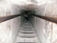 Entrando a la Piramide de Keops