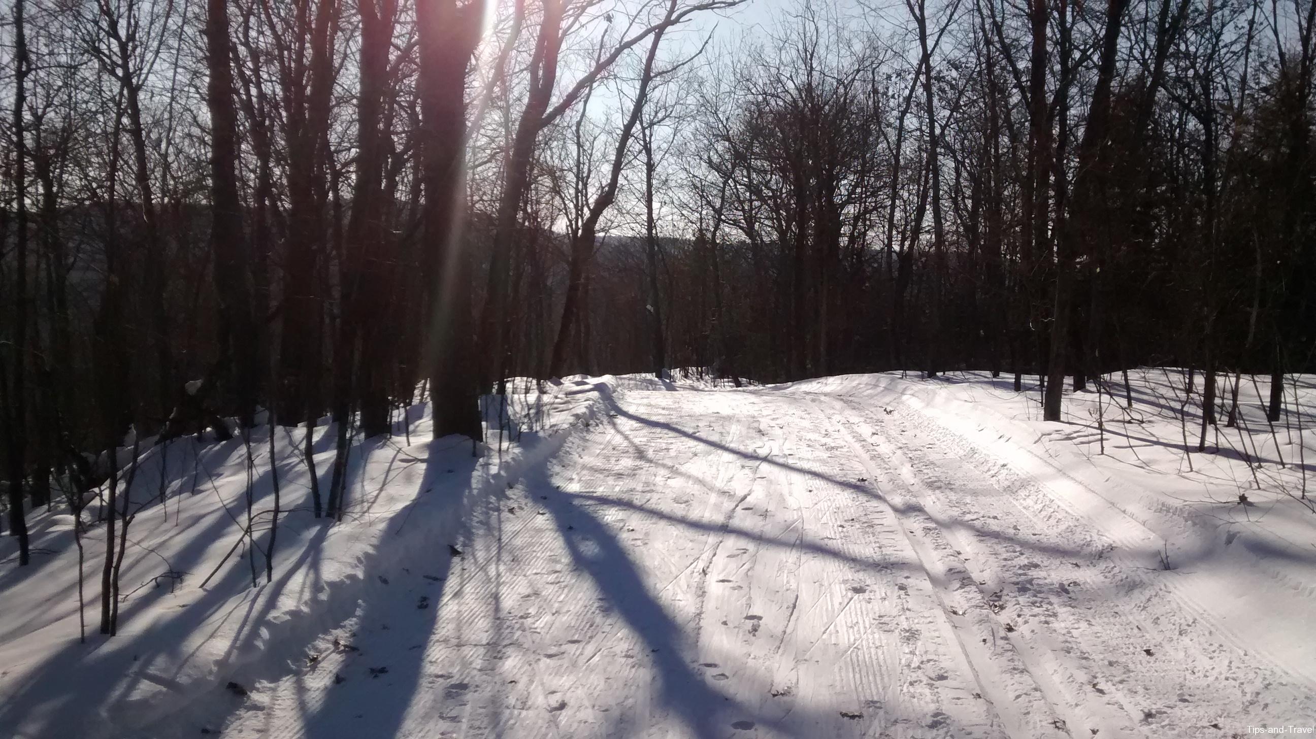 Ski de fond la montagne coup e st jean de matha qu bec trucs de voyage - Montagne coupee ski de fond ...